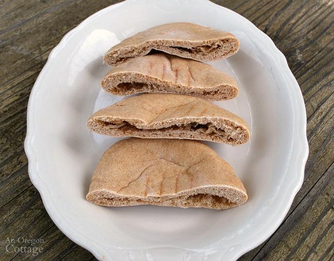 Easy, Whole Wheat Pita Bread