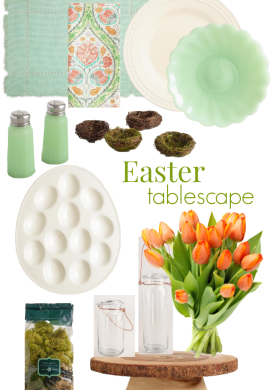 Green, White, Aqua & Coral Nature Inspired Easter Table