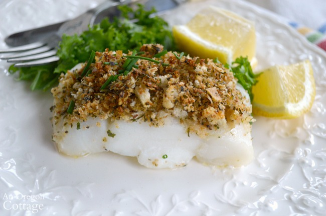 Baked White Fish with Parmesan-Herb Crust