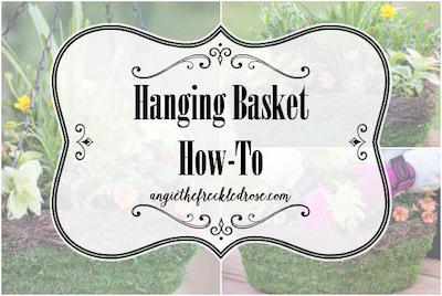 Hanging Basket How to via The Freckled Rose