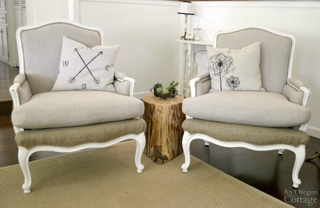 Two DIY Upholstered French Chairs