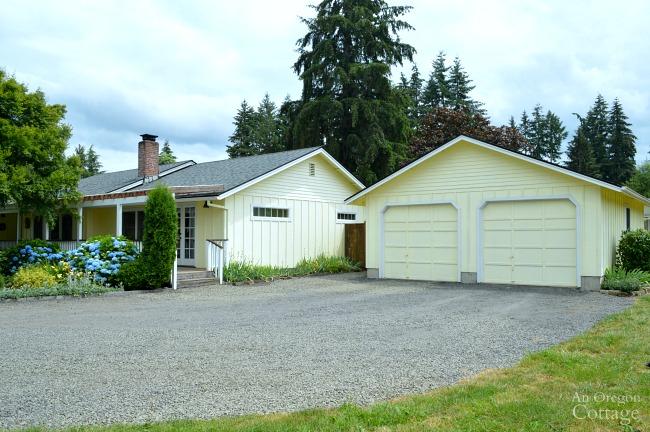 Garden Tour- garage and drive