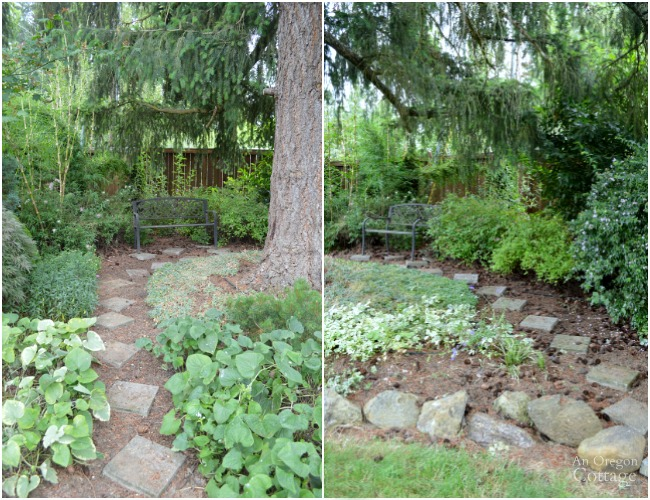 Garden Tour- shade garden path