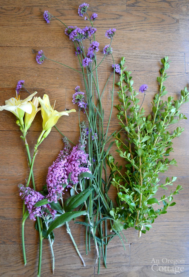 July Backyard flower harvest