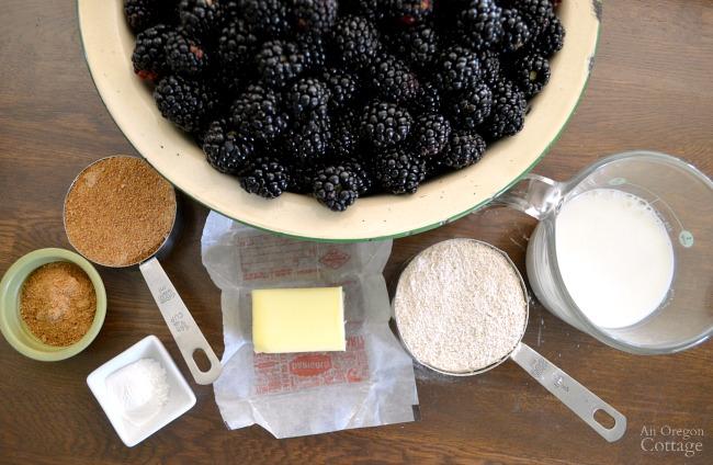 Whole Wheat Skillet Blackberry Cobbler ingredients