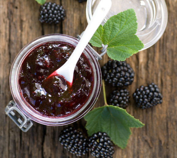 Blackberry-basil-jam-via-Sur-La-Table