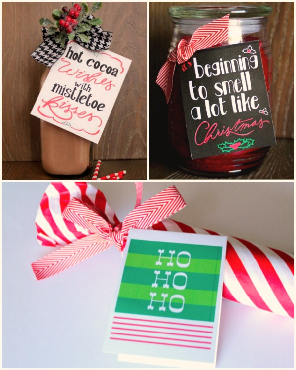 Handmade gift idea #8: DIY holiday gift ideas with printables via Design Dazzle at AnOregonCottage.com