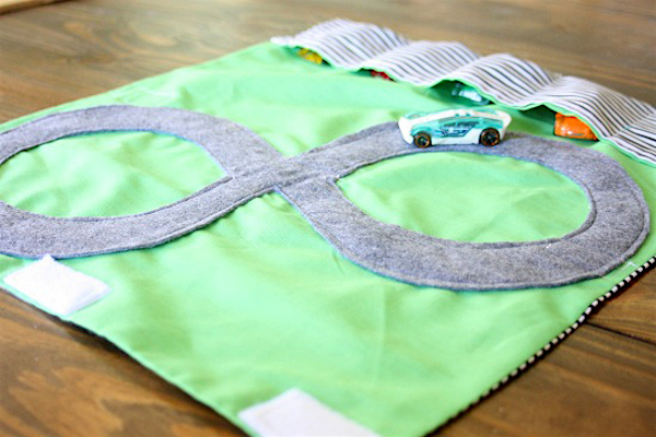 Handmade Gift idea #5: DIY play mats for cars via The Shabby Creek Cottage + more gift ideas at AnOregonCottage.com