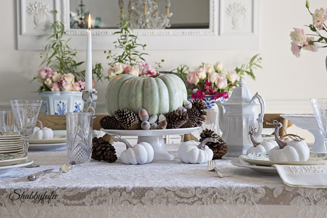 French Style Thanksgiving Table via Shabby FuFu