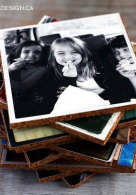 DIY Photo Coasters -31 Days of Handmade Gifts