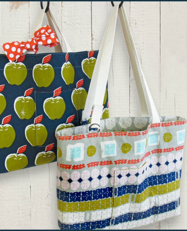 Handmade gift idea #30- DIY Tote Bags via Sew 4 Home at AnOregonCottage.com