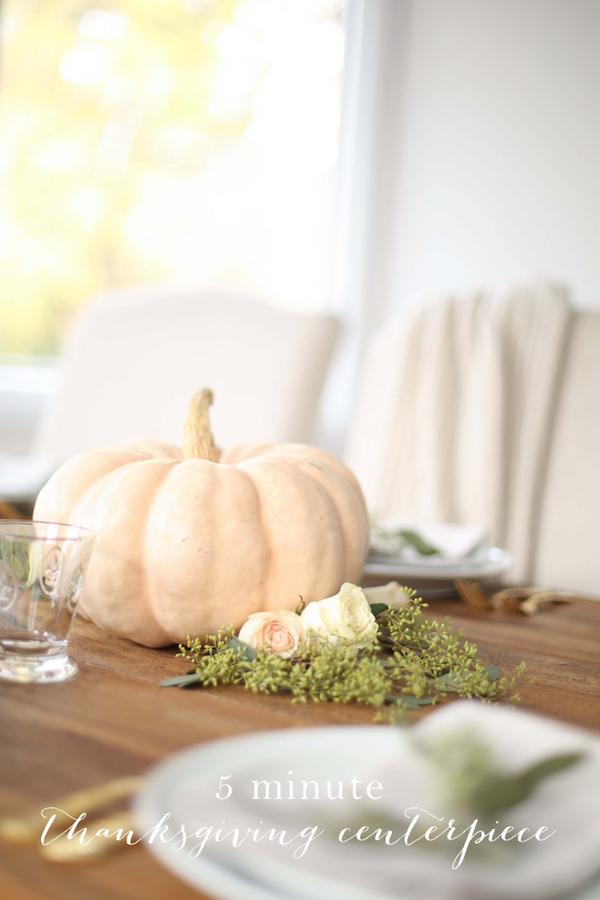 Quick Thanksgiving Centerpiece via Julie Blanner
