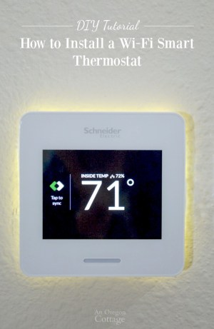 How to Install a WiFi Smart Thermostat & Wiser Air Review | An Oregon Cottage