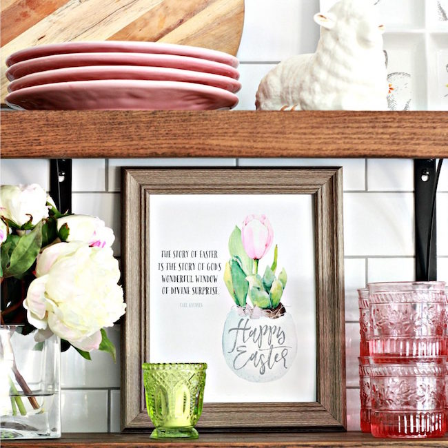 Easter Printable and Decor at Nest of Posies