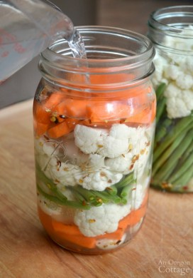 Easiest Fermented Pickled Vegetables Ever {And How to Get Even More Recipes}