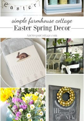 21 Simple Farmhouse Cottage Easter Spring Decor Ideas