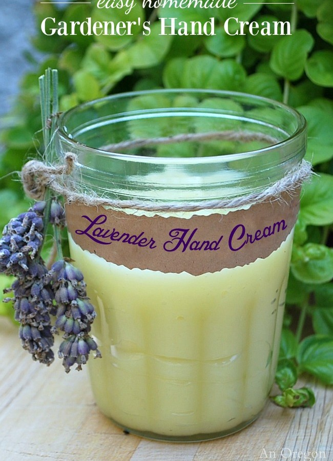 DIY Hand Cream for Gardeners