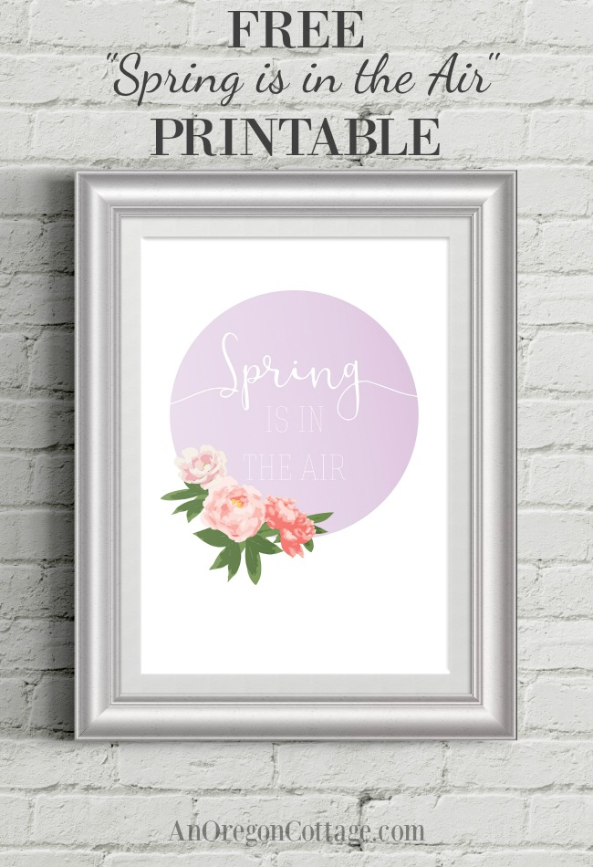 Free spring printable with email signup-floral printable