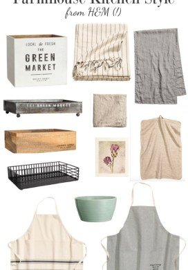 Affordable farmhouse kitchen style from h&m