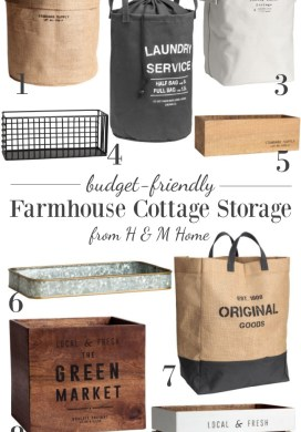 Budget friendly farmhouse cottage storage from H&M Home