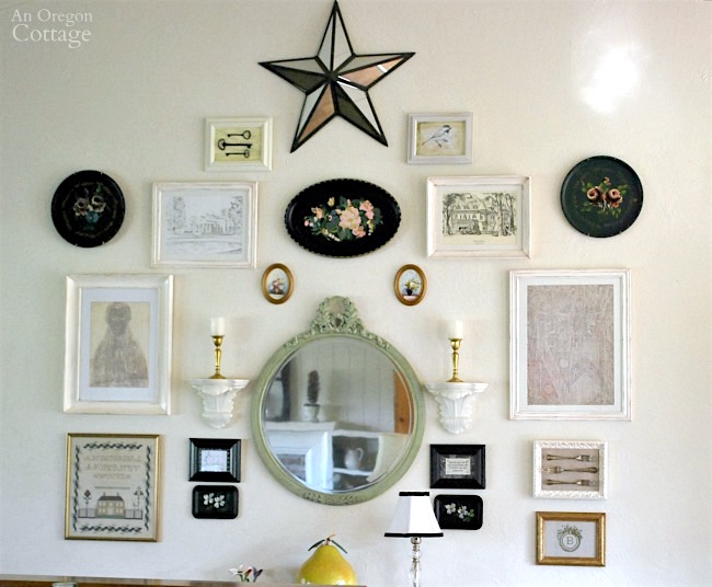 Eclectic Gallery Wall with White Frames