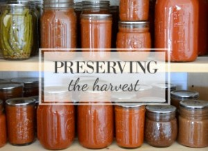 Preserving the harvest recipes