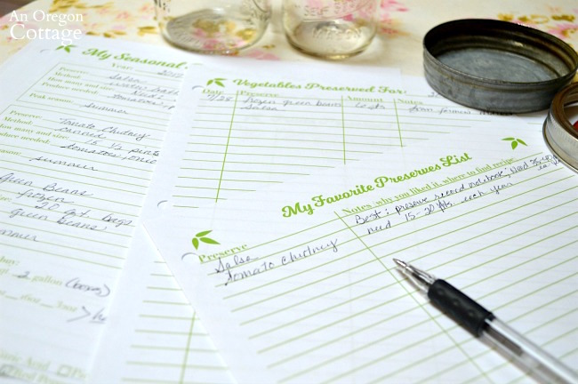 Using preserving record notebook printable