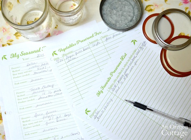 preserving record notebook in action