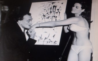 Salvador Dali and Raquel Welch