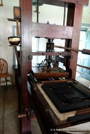 Reproduction of the original printing press