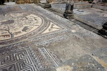 The mosaic work was intricate and mostly intact