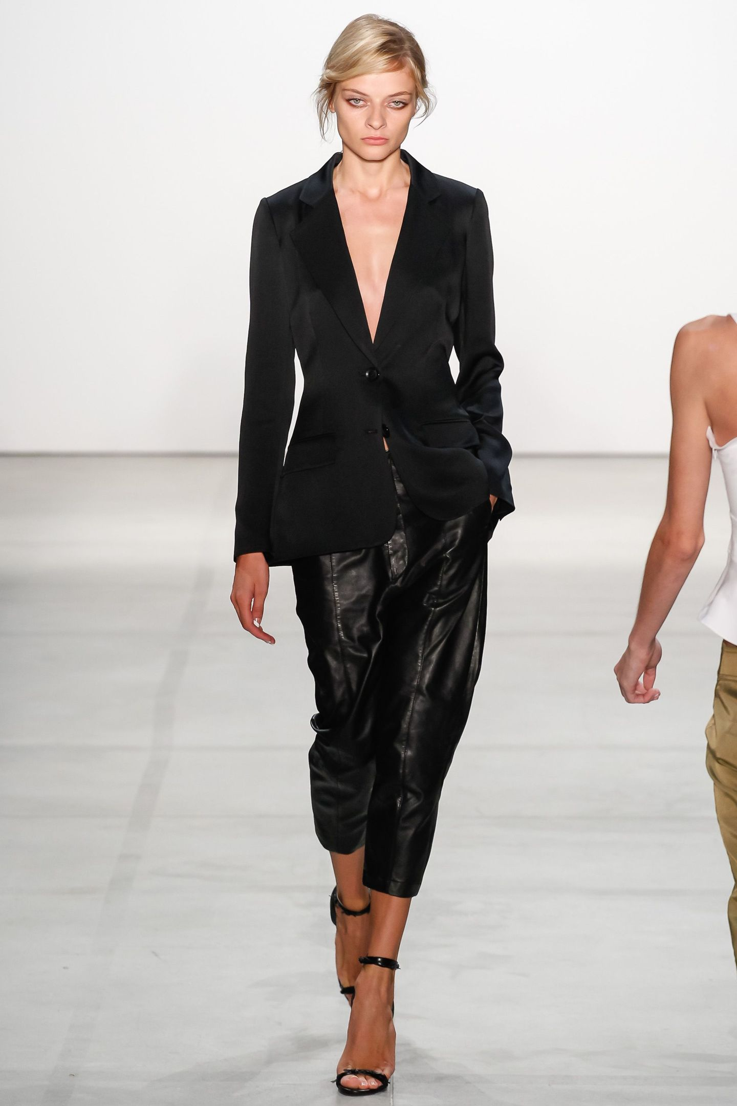 Cropped Leather Pants For Fall