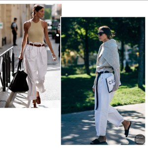 julie pelipas white pants summer fall