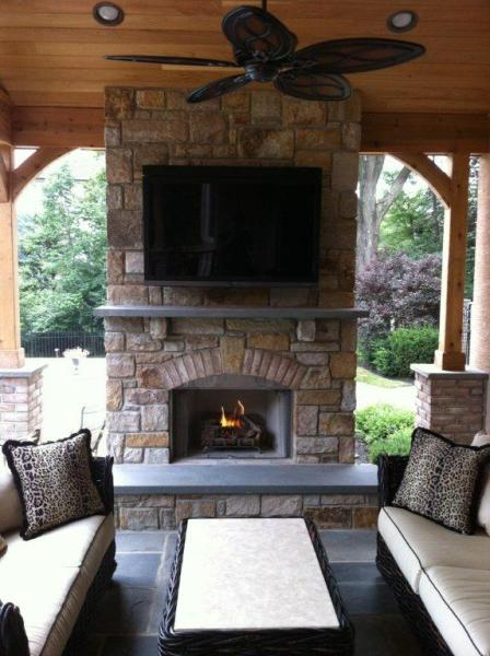 small outdoor patio fireplaces Patio and Deck Fireplace Designs- Fireplaces for Decks