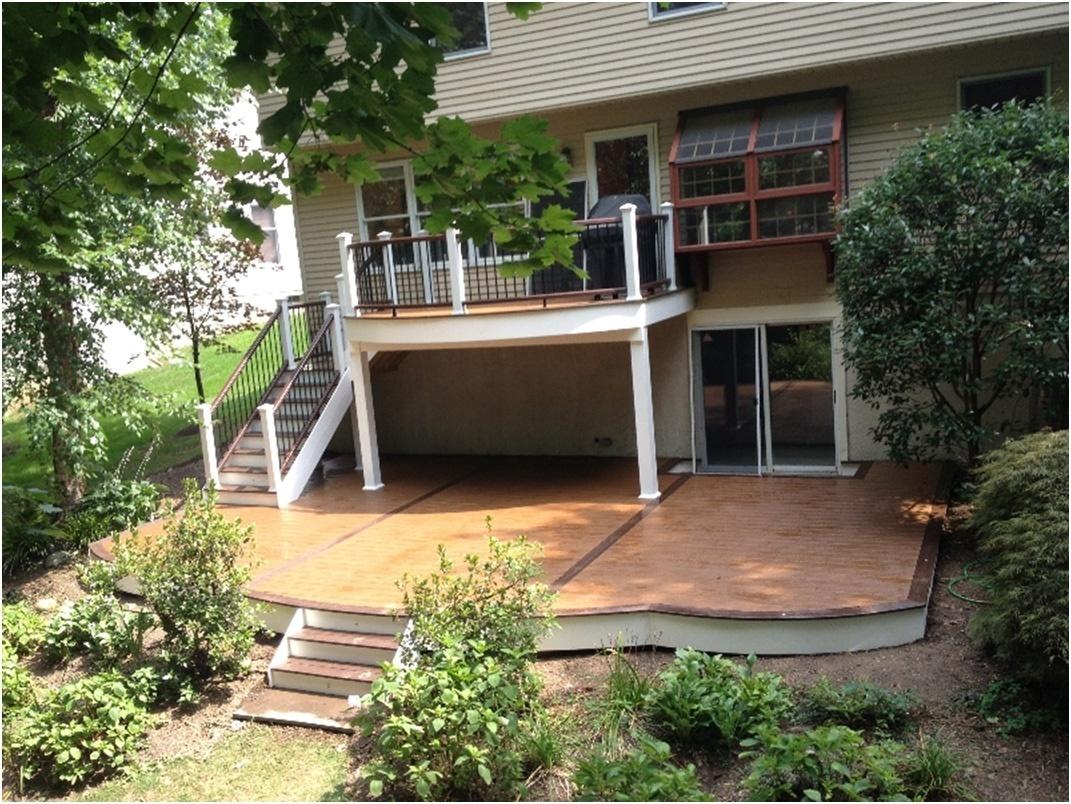 creating an outdoor deck design above a