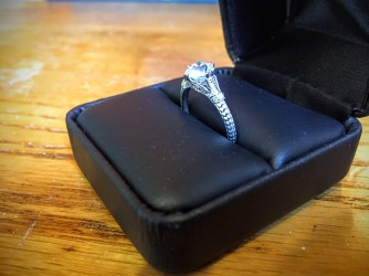 Antique Engagement Ring side