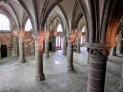 Normandy Mont Saint Michel Abbey hall