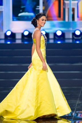 Ariella Arida, Miss Philippines 2013, competes in her evening gown during the Preliminary Competition at Crocus City Hall on November 5, 2013. Tune in to MISS UNIVERSE® 2013 from Crocus City Hall in Moscow, Russia on November 9, 2013 at 9:00 PM ET on NBC to see who will win the crown. HO/Miss Universe L.P., LLLP