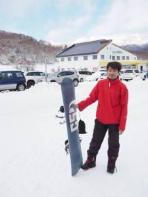 January - First snowboard trip