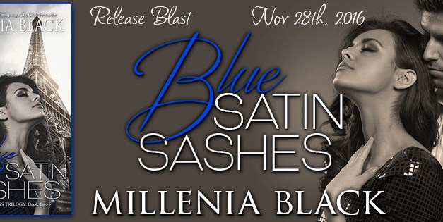Blue Satin Sashes by Millenia Black Release Blast