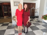 My daughter and I, the 'Ladies in Red'.