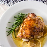 Oven-Roasted Chicken with Lemon and Rosemary