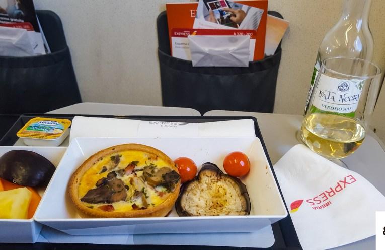 Iberia Express Business Class Meal Brunch Quiche Food