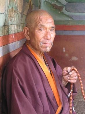 Monk, Punakha, Bhutan