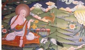 Mural in Punakha Dzong, Bhutan