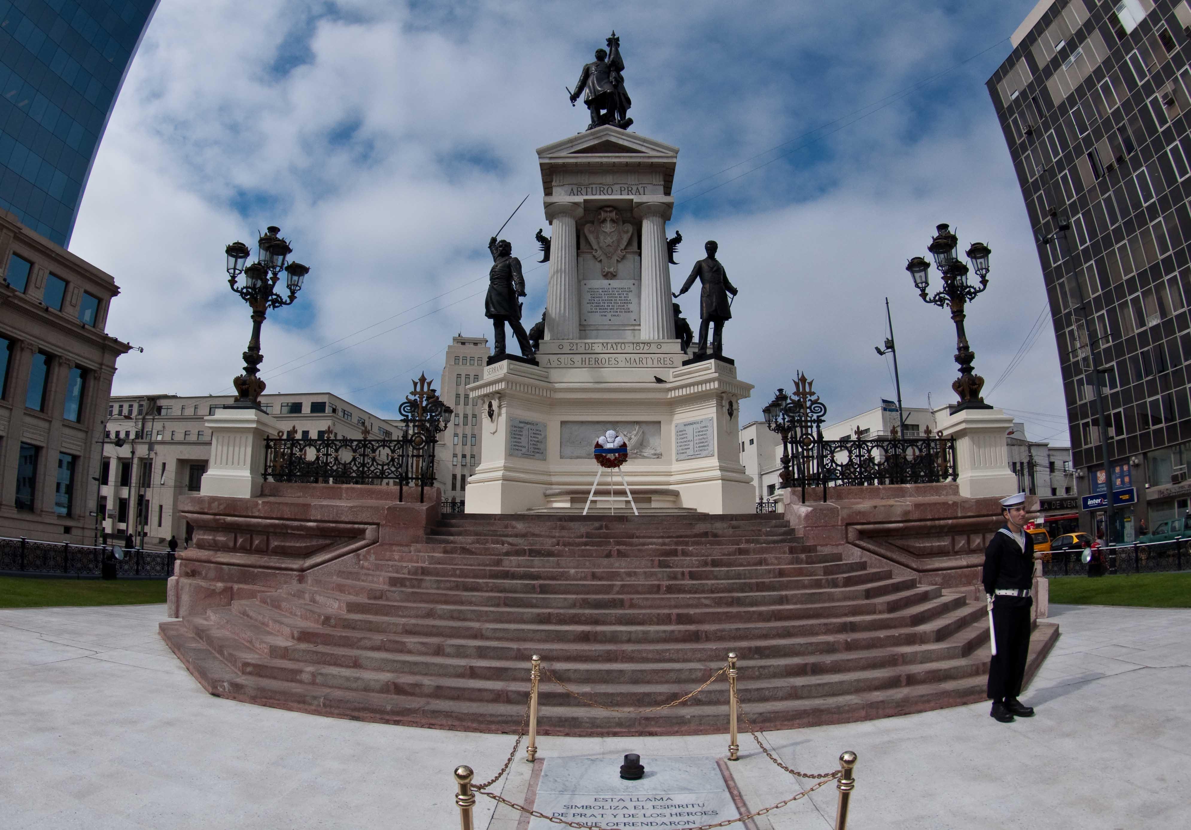 Prat Monument in Valparaiso