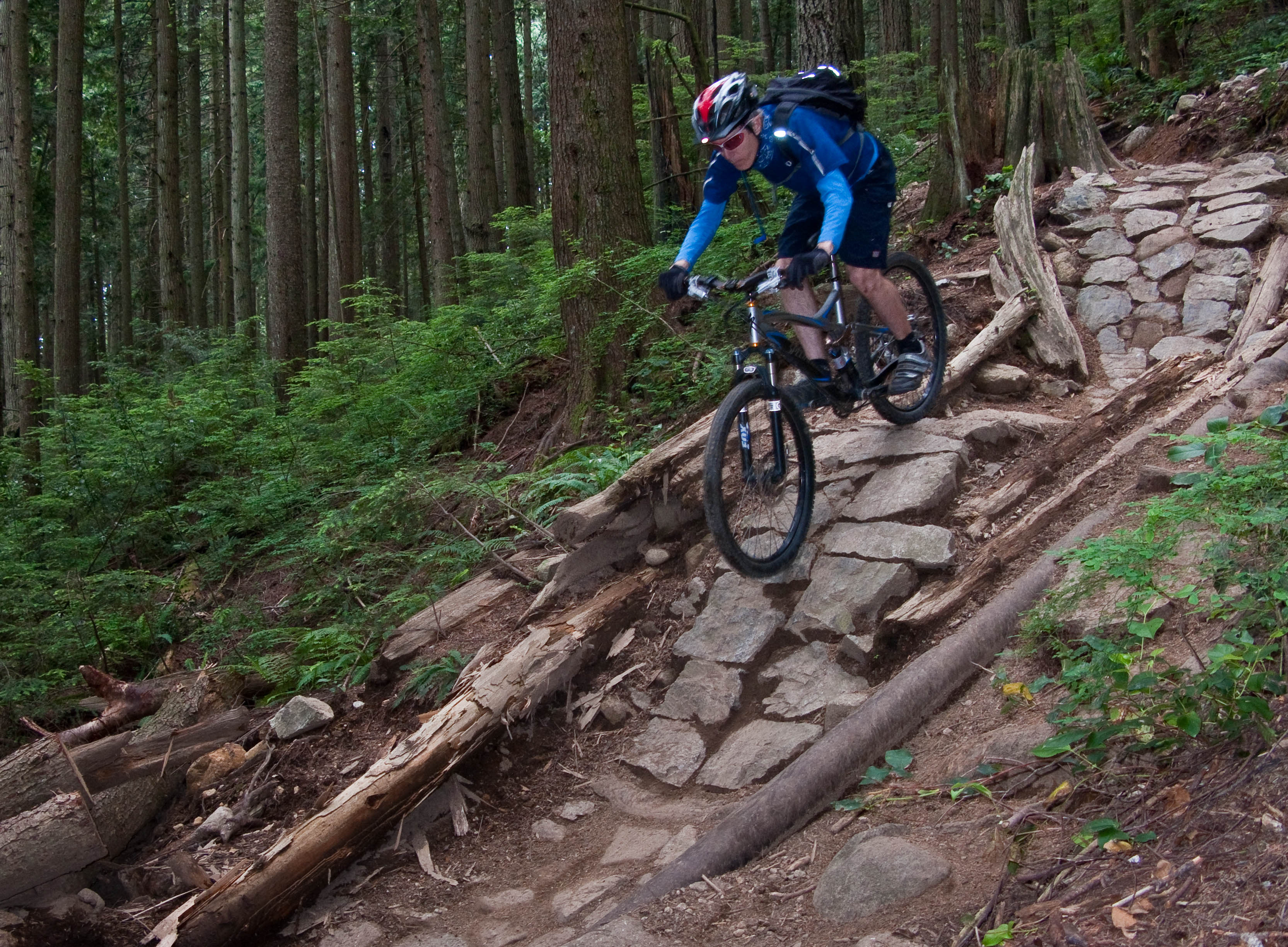 Knobs on Pipeline's triple drop (Mt. Fromme)