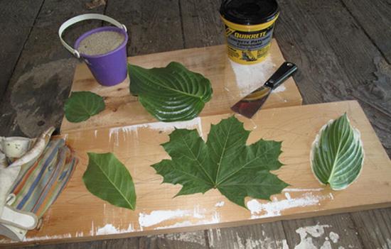 concrete leaves art project