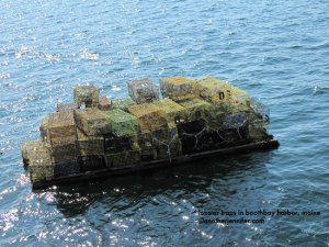 Wordless Wednesday: Maine Lobster Traps on Water
