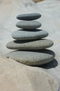 serene rock pile